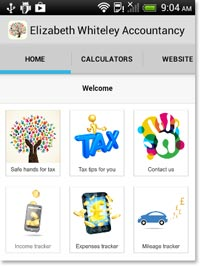 Android app screen